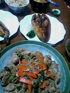 野菜炒めとホッケ記念日